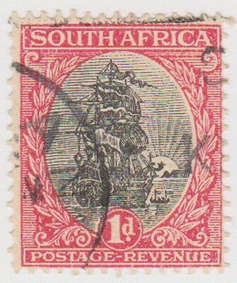 (RSA67)1926 South Africa 1d red & black (south) (F)ow47