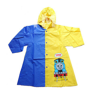 Kids Boys Thomas & Friends Hoodie Hooded Rainproof Rain Jacket Raincoat Mac Sz