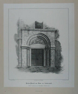 Andernach Lithographie v. Knauth nach Ludwig Lange 1836