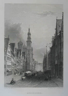 Augsburg Stahlstich v. Rouargue 1859