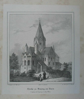Sinzig Lithographie v. Knauth nach Ludwig Lange 1836