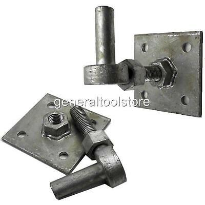 1 Adjustable Galvanisesd 19 Mm Gate Hook Pin 100 Mm Plate Strap Band Hinges 112F