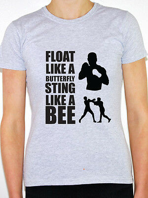 """Women White Ali I/'m The Greatest /""""Float Like a Butterfly Sting like a Bee/"""" C29-7"""