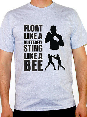 FLOAT LIKE A BUTTERFLY STING LIKE A BEE - Boxing / Sport Themed Mens T-Shirt