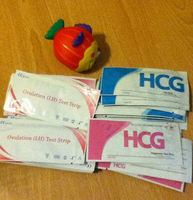 Lot of HCG Pregnancy / LH Ovulatition Test Strips FDA Fast & Discreet From USA