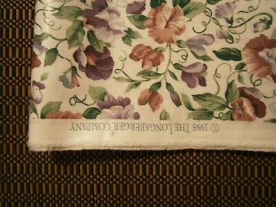 Longaberger Rare 1995 Retired Sweetpea May Series Decorator Fabric - $35/yard