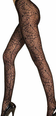 Spider Web Lace Tights or Thigh High Stockings  Gothic Punk HALLOWEEN Costume