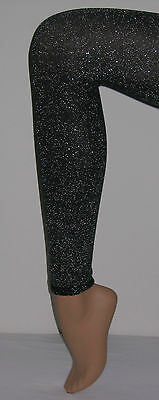 Luxury Lurex Footless Tights Black/Silver Gold Glitter Quality Fashion Dance