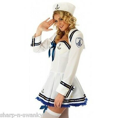 Adult Hospital Nurse Costume Ladies Nurses Fancy Dress Outfit Sizes 8-22