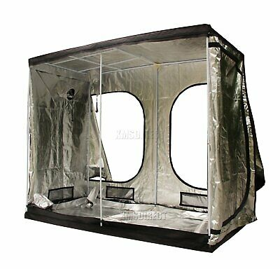 Portable Grow Tent – Thick Foil Silver Mylar Hydroponic Dark Room 2.4mx1.2mx2m