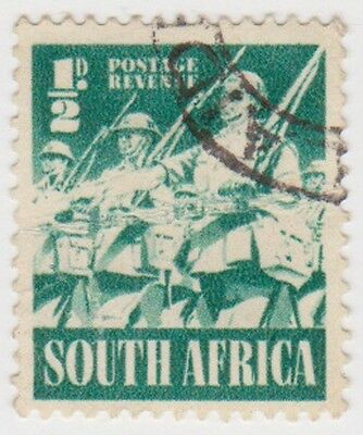 (RSA194) 1941 South Africa ½d green infantry (South) (G