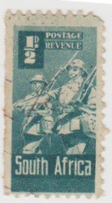 (RSA229) 1942 South Africa ½d green infantry (South) (A