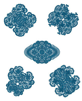 """ABC Designs Laced Butterfly Doilies Machine Embroidery Designs SET 5""""x7"""" hoop"""