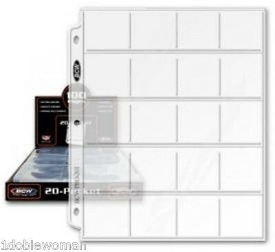 20  20 POCKET  PAGES for   2x2 COIN HOLDERS & FLIPS