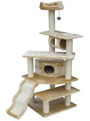 """70"""" Cat Tree House Toy Bed Scratcher Post Furniture"""