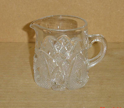 EAPG CRYSTAL NEW HAMPSHIRE STATE PATTERN BREAKFAST CREAMER US GLASS #15084 1903