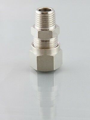 Metric Compression Fittings Male Studs Bspt from 4mm to 15mm for Fuel Etc