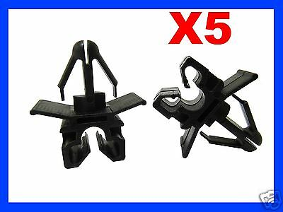 5 0NE HOLE BRAKE CLUTCH CABLE PIPE CLIP FIXING CAR  plastic fasteners 78N