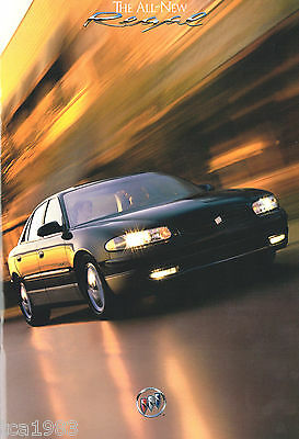 1997 BUICK REGAL Brochure / Catalog with Color Chart: LS, GS, Supercharged