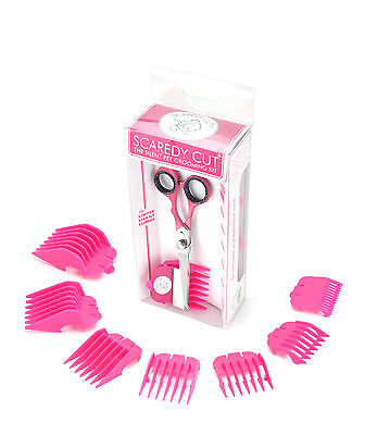SCAREDY CUT Silent Pet Grooming Kit for CATS, Pink