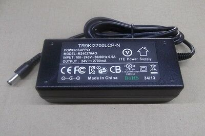 24V 2.7A UL approved Power Supplies AC Adapter , ITE, Regulated power supply