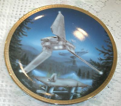 Star Wars Imperial Shuttle Space Vehicles Plate Hamilton Collection