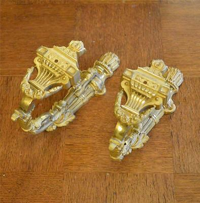 french vintage gilt ormolu bronze tie backs mounts large