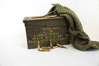 50 Cal Ammunition Box Ammo Steel Fully Sealed Ex Military Army