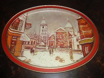 Sunshine Biscuits Tray---Snow On Montmartre---11x14