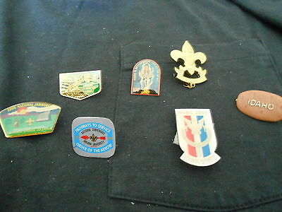 Boy Scout Hat Pins Lot of 7 different pins  p64