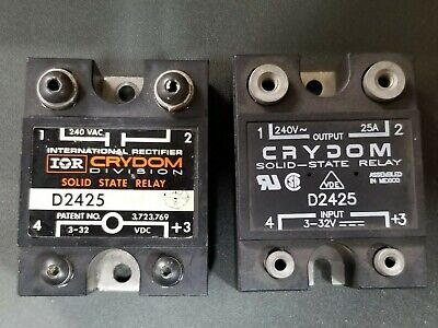 Crydom D2425 240VAC 3-32VDC Solid State Relay 8002A