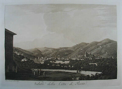 Pescia Aquatinta in Sepiadruck 1801