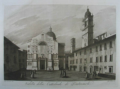 Pontremoli Aquatinta in Sepiadruck 1801