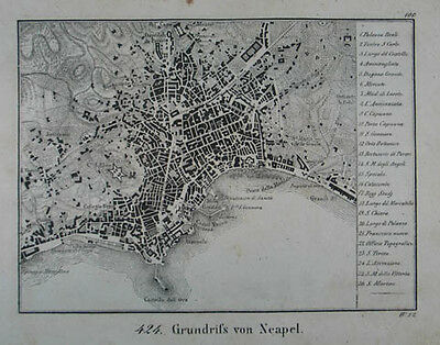 Neapel Lithographie 1831
