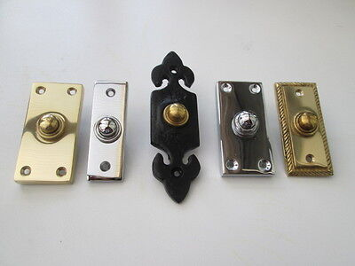 SOLID BRASS BELL PUSH DOOR BELL PUSH WIRED in 3 finishes