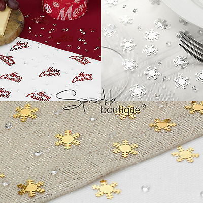 Snowflake/Christmas Table Confetti & Crystals -Winter Wedding Scatter/Decoration