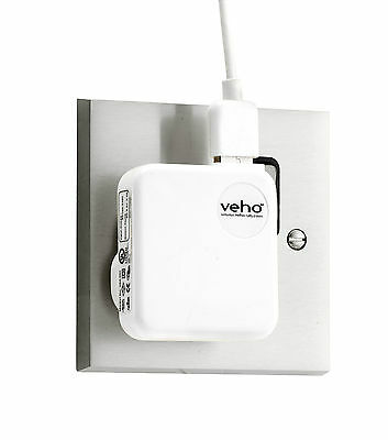 Veho UK Mains USB Charger for Phones/Tablets/USB Powered Devices - White