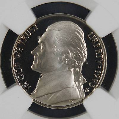 1993-S Jefferson Nickel PF69UltraCameo NGC Gorgeous Bright White Proof Ultra Cam