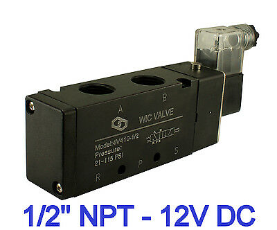 "1/2"" Inch Pneumatic 4 Way Electric Directional Control Air Solenoid Valve 12V DC"