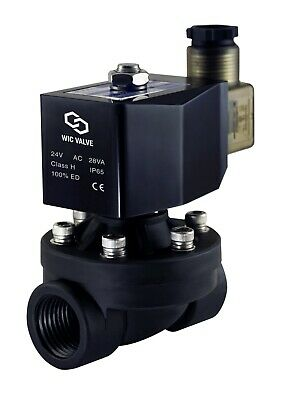 """3/4"""" Inch NC Zero Differential Plastic Electric Air Water Solenoid Valve 24V AC"""