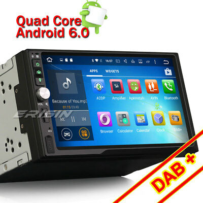 """7""""Android 6.0 Double 2 Din Car Stereo SD USB DAB+GPS Navigation 3G WiFi DVR OBD"""