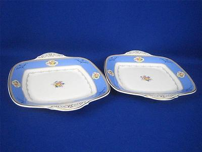 Rare Vintage Pair of ROYAL DOULTON OCTAVIA H5261 Tab Handled Serving Platters