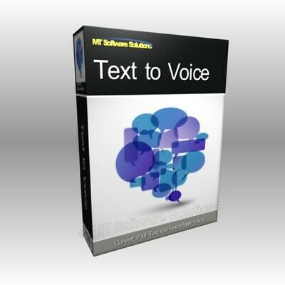 Text to Voice Speech Synthesis WAV Audio File Pro Professional Software