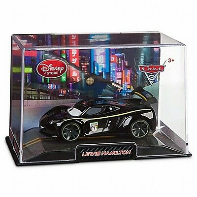 Disney Store Cars 2 Die Cast Collector Case Lewis Hamilton 1:43 Scale NEW