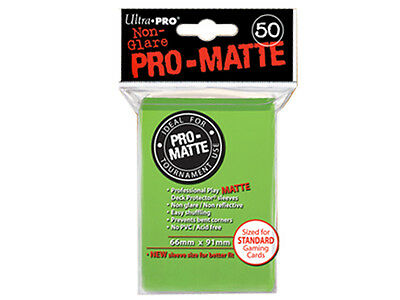 Ultra Pro Deck Protector Sleeves x50 - Pro Matte Non-Glare - Lime Green