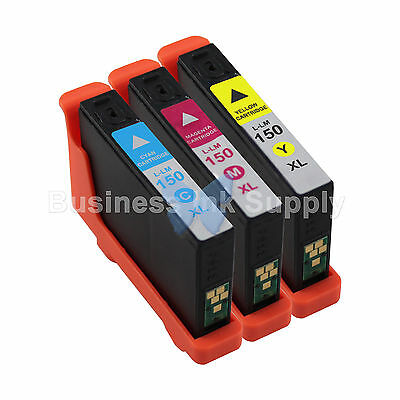 3 COLOR 150XL New High Yield Compatible Ink Cartridge for LEXMARK 150XL CMY