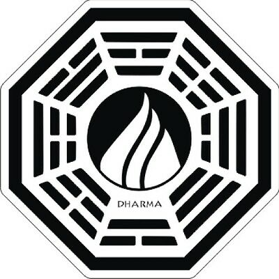 """LOST Dharma - The Flame - Sticker - 3.5"""" x 3.5"""""""