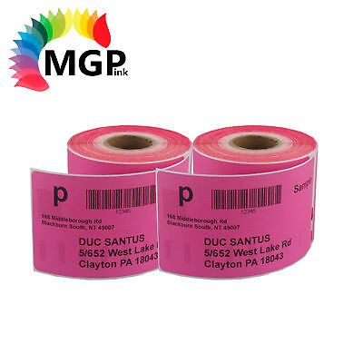 2 Compatible for Dymo/Seiko 99014 Pink Label 54mm x 101mm Labelwriter450 Turbo