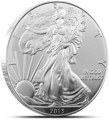 2013 American Silver Eagle 1 Dollar USA Coin 1 Troy Ounce.999 Fine Silver GEM BU