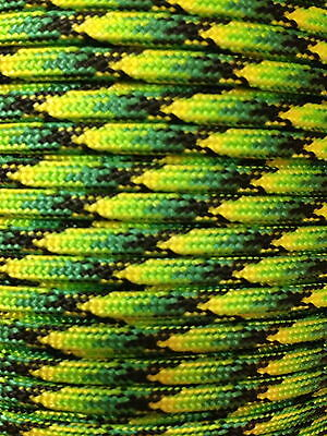 Dragonfly 550 Paracord Mil Spec Type III 7 strand parachute cord 10-100 ft
